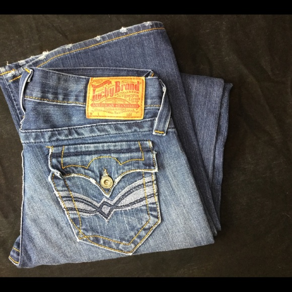 Lucky Brand Denim - Lucky Brand 4/27 LiL Maggie distressed Denim Jeans